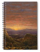 Morning Looking East Over The Hudson Valley From The Catskill Mountains Spiral Notebook