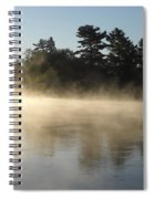Morning Mist Glowing In Sunlight Spiral Notebook
