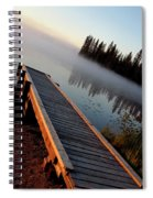 Morning Mist Over Lynx Lake In Northern Saskatchewan Spiral Notebook