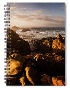 Morning Ocean Panorama Spiral Notebook