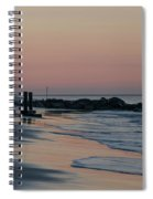 Morning On The Beach At Cape May Spiral Notebook