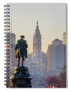 Morning On The Parkway - Philadelphia Spiral Notebook