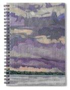 Morning Rain Clouds Spiral Notebook