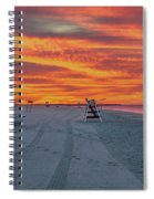 Morning Red Sky At Cape May New Jersey Spiral Notebook