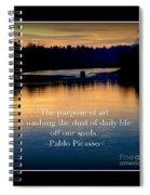 Morning River Run Spiral Notebook