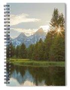 Morning Sun At Schwabachers Landing Spiral Notebook