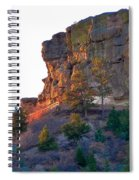 Morning Sun On Castle Rock Spiral Notebook