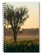 Morning Sunflowers Spiral Notebook