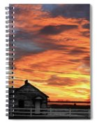Morning Sunrise 2-14-2011 Spiral Notebook