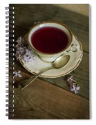 Morning Tea With Lilacs Spiral Notebook