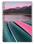 Morning View Of Pyramid Lake In Jasper National Park Spiral Notebook