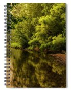Morning Warmth Williams River  Spiral Notebook