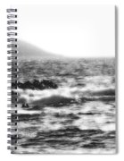 Morning Waves - Bw Diffused 04 Spiral Notebook