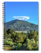 Morning View Of Albion Mountains Spiral Notebook