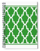Moroccan Arch With Border In Dublin Green Spiral Notebook