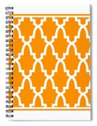 Moroccan Arch With Border In Tangerine Spiral Notebook