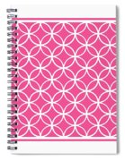 Moroccan Endless Circles I With Border In French Pink Spiral Notebook