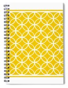 Moroccan Endless Circles I With Border In Mustard Spiral Notebook