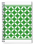 Moroccan Endless Circles II With Border In Dublin Green Spiral Notebook