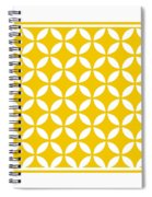 Moroccan Endless Circles II With Border In Mustard Spiral Notebook