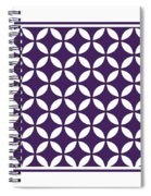 Moroccan Endless Circles II With Border In Purple Spiral Notebook