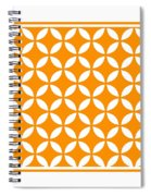 Moroccan Endless Circles II With Border In Tangerine Spiral Notebook