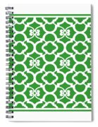 Moroccan Floral Inspired With Border In Dublin Green Spiral Notebook