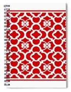 Moroccan Floral Inspired With Border In Red Spiral Notebook