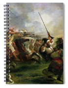 Moroccan Horsemen In Military Action Spiral Notebook