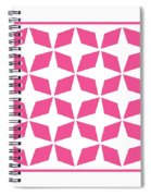 Moroccan Inlay With Border In French Pink Spiral Notebook