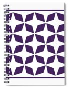 Moroccan Inlay With Border In Purple Spiral Notebook