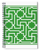 Moroccan Key With Border In Dublin Green Spiral Notebook