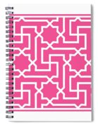 Moroccan Key With Border In French Pink Spiral Notebook