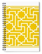 Moroccan Key With Border In Mustard Spiral Notebook