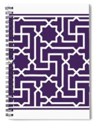 Moroccan Key With Border In Purple Spiral Notebook