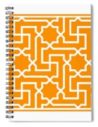 Moroccan Key With Border In Tangerine Spiral Notebook
