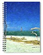 Morris Island Lighthouse 2 Spiral Notebook