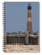 Morris Island Lighthouse Sea Wall Spiral Notebook