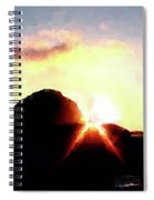 Morro Rock At Sunset Spiral Notebook