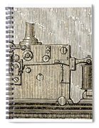 Morse Telegraph Machine, 1889 Spiral Notebook