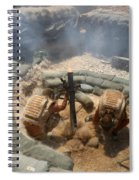 Mortar Crew In Action Spiral Notebook