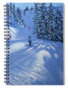 Morzine Ski Run Spiral Notebook