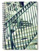 Mosaic And Iron Staircase La Quinta California Art District In Mint Tones Photograph By Colleen Spiral Notebook