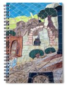 Mosaic Art At Petra Spiral Notebook
