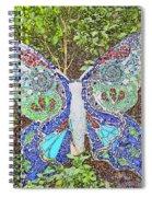 Mosaic Butterfly Spiral Notebook