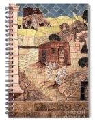Mosaic Images At Petra Spiral Notebook