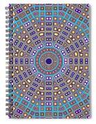 Mosaic Kaleidoscope  Spiral Notebook