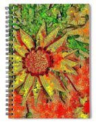 Mosaic Sunny Yellow Daisy Spiral Notebook