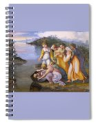 Moses Saved From The Waters Raffaello Sanzio Da Urbino Raphael Raffaello Santi Spiral Notebook