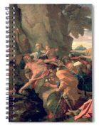 Moses Striking Water From The Rock Spiral Notebook